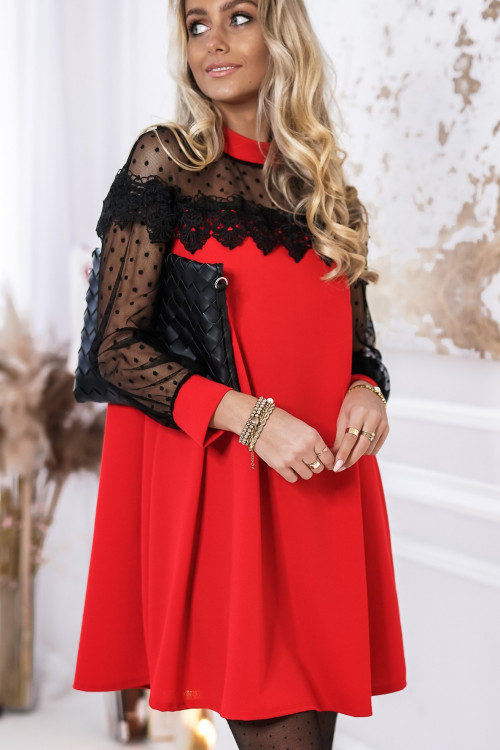 Sukienka MIRELLA ELGANCE koronka trapezowa