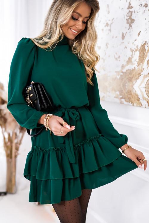 Sukienka SIENNTO PRETTY green