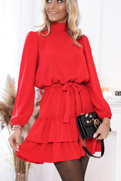 Sukienka SIENNTO PRETTY red