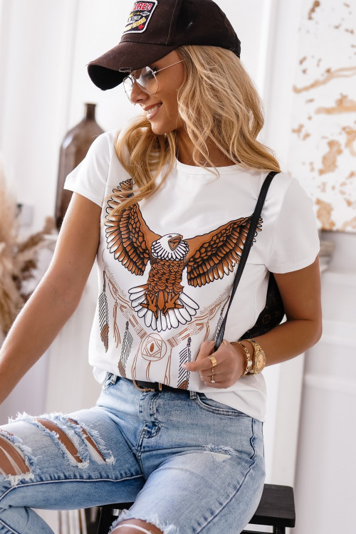 Tshirt EAGLE STREETWEAR ART white