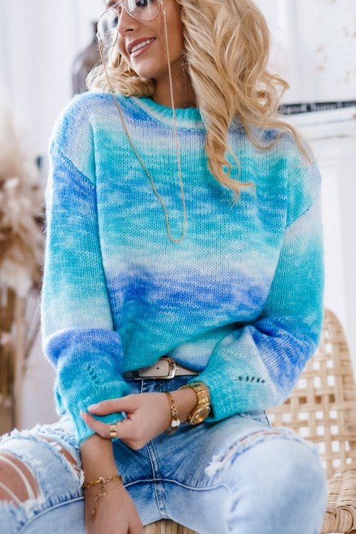 Sweter OMBRE blue and mint SPRING