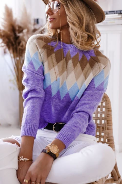 Sweter DonBenitto SPRING LOOK fiolet