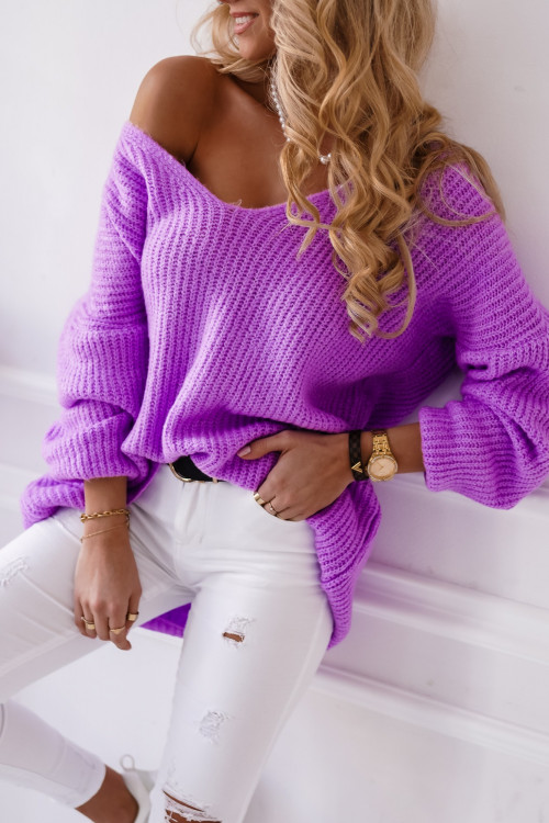 Sweter VILLABLANCA spring look fiolet
