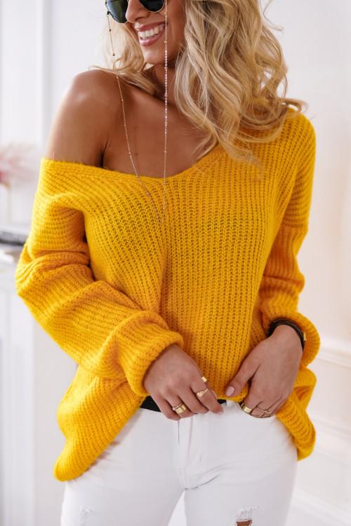 Sweter VILLABLANCA spring look yellow