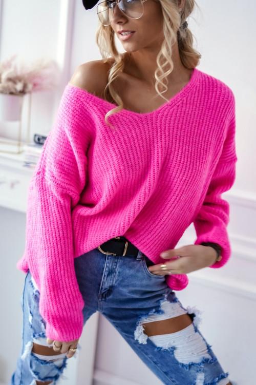Sweter VILLABLANCA spring look fuksja
