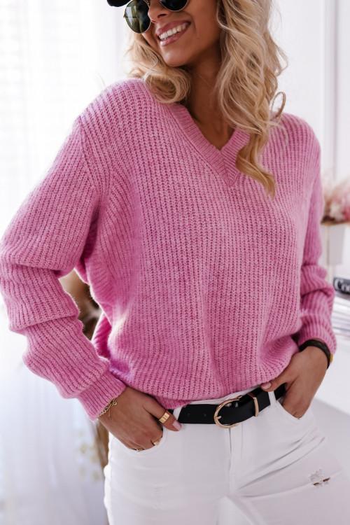 Sweter VICTORIA V-neck puder