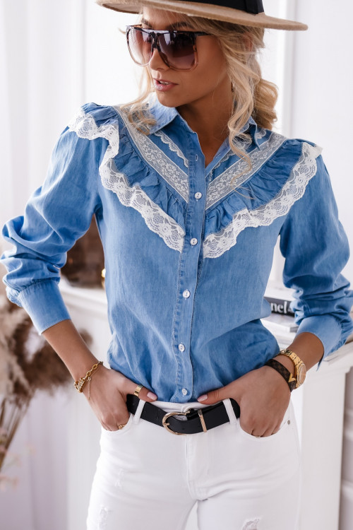 Koszula BLUE JEANS koronka