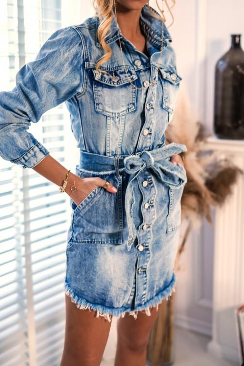 Sukienka jeansowa BIESCAS DENIM RIPPER