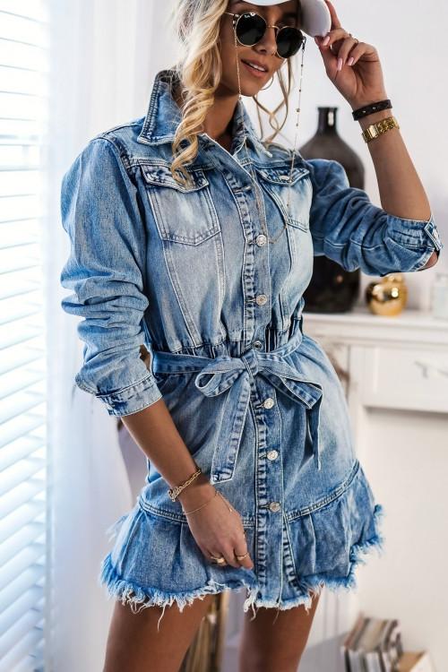 Sukienka jeansowa QUEEN DENIM LOVERS
