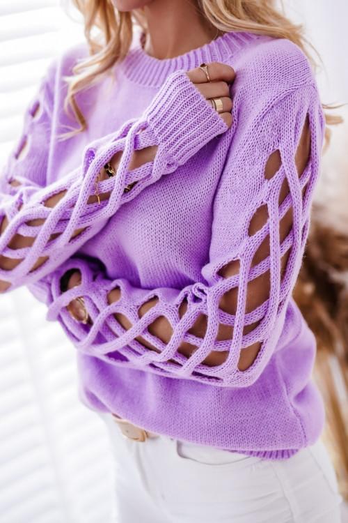 Sweter SPRING PARIS lawendowy fiolet