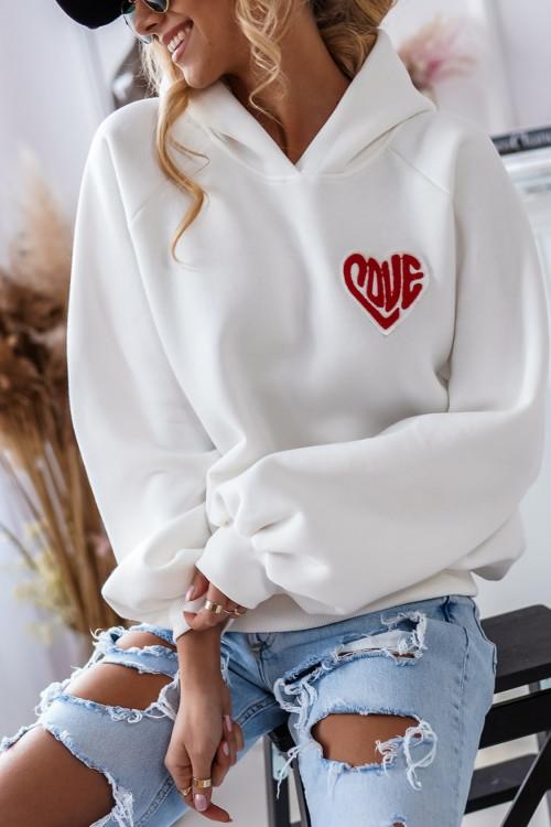Bluza bawełniana LOVE LIFESTYLE hoodie