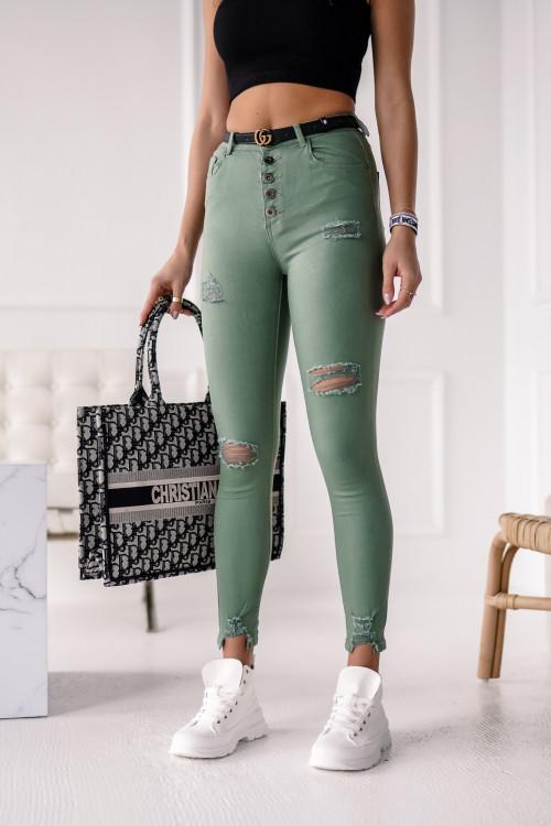 Spodnie RIPPED KHAKI street style RURKI