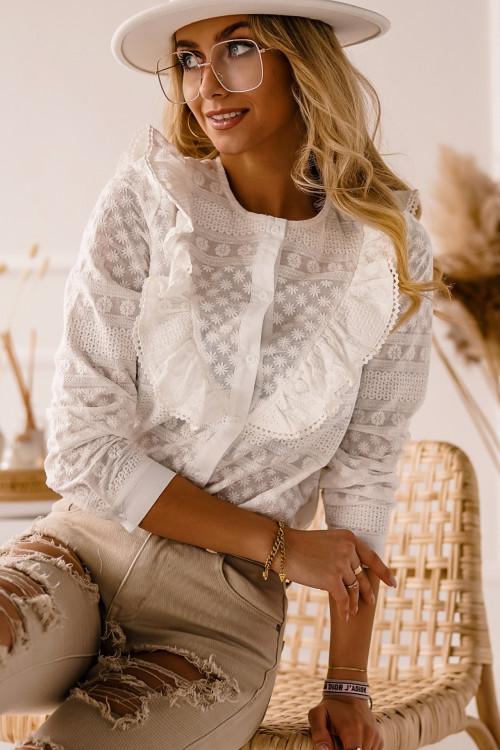 Koszula ARENNO BOHO AŻUR white