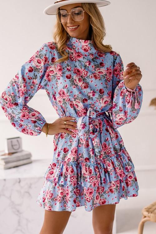 Sukienka LAGOS PRETTY BABY BLUE FLOWERS