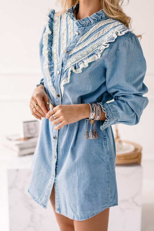 Sukienka JEANSOWA DENIM and BOHO
