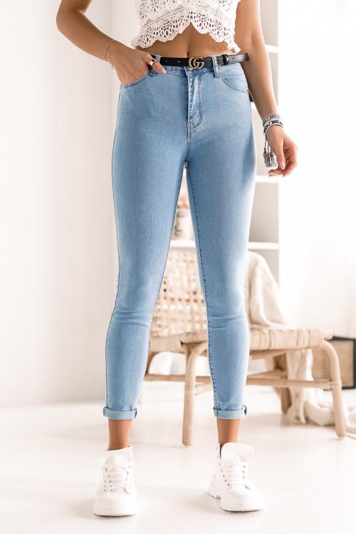 Spodnie JEANSOWE KLASYCZNE blue jeans