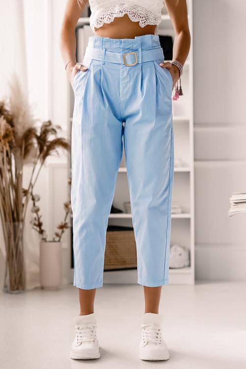 Spodnie z wysokim stanem BABY BLUE CASUAL