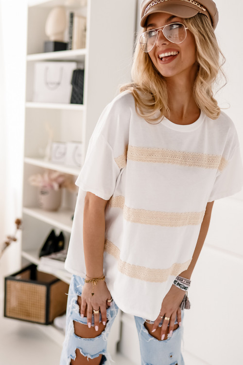 Tshirt BOHO and LIFESTYLE LOOK white