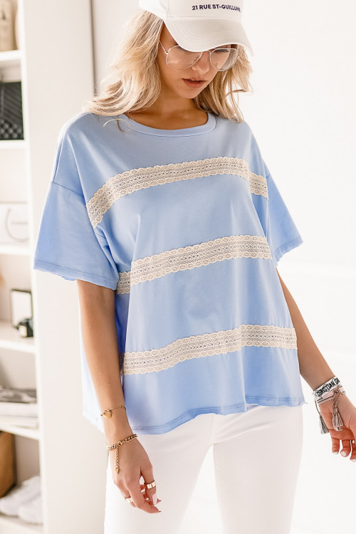Tshirt BOHO and LIFESTYLE LOOK baby blue