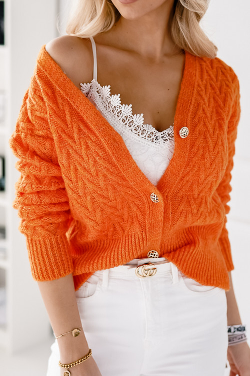 Kardigan HELLO SPIRNG orange