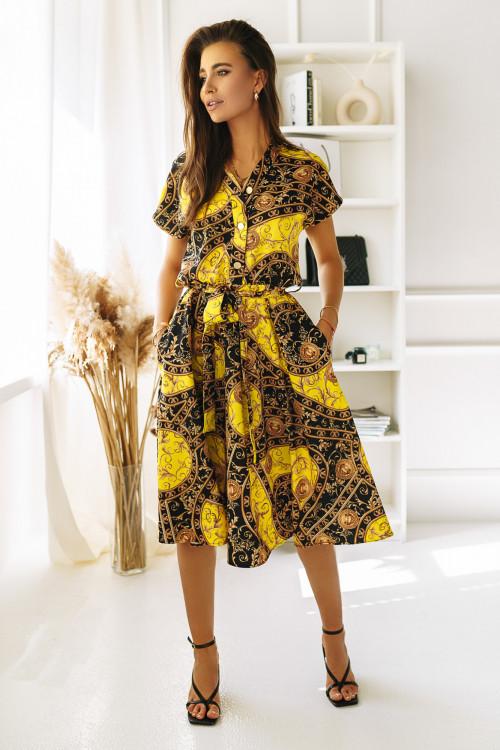 Sukienka PREMIUM AZTECK yellow