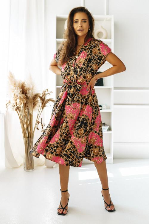 Sukienka PREMIUM AZTECK pink