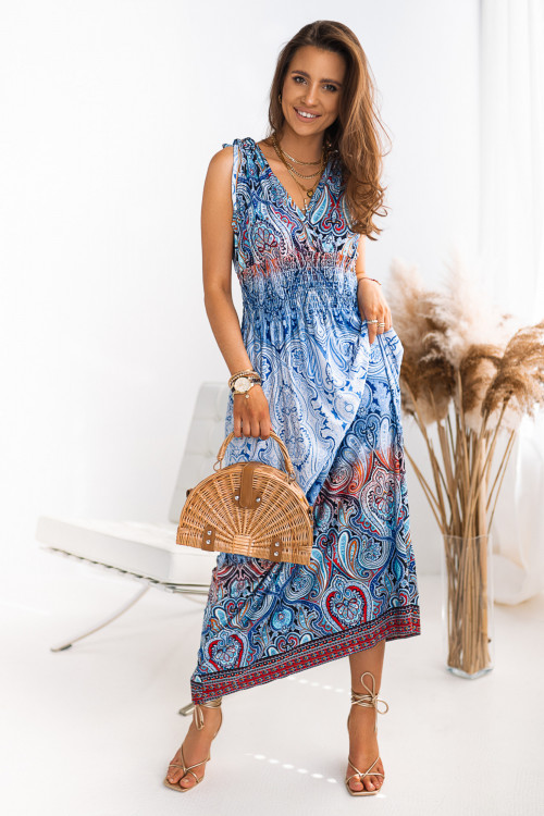 Sukienka MAXI MURILLO DESIGN blue