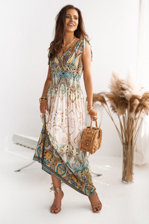 Sukienka MAXI MURILLO DESIGN beż