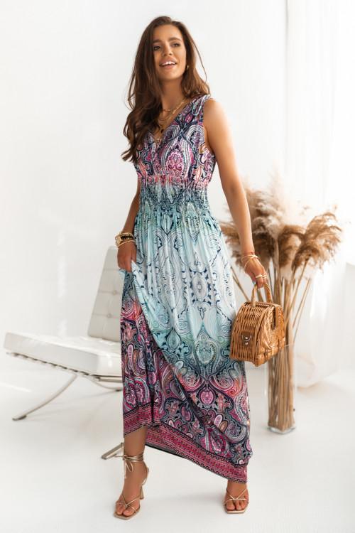 Sukienka MAXI MURILLO DESIGN mint