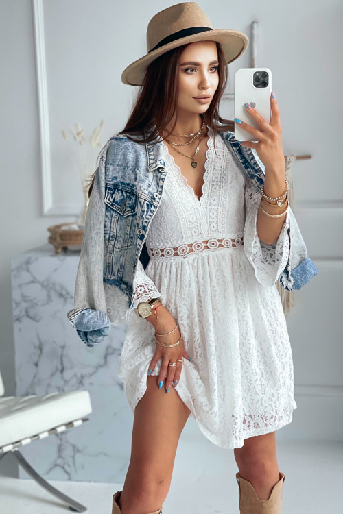 Sukienka KORONKOWA LILI ROSSE white
