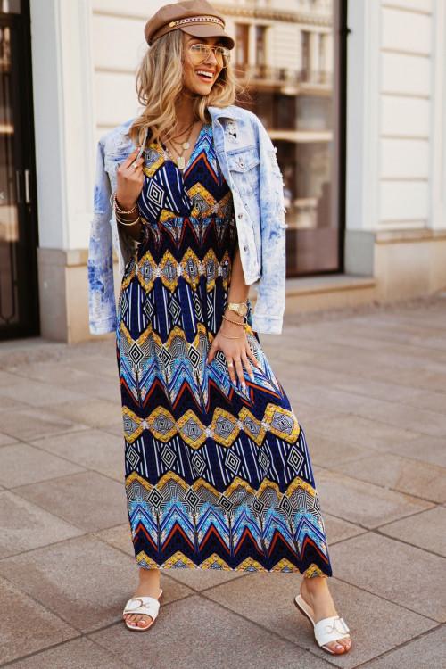 Sukienka MAXI VERONA TUTTO blue