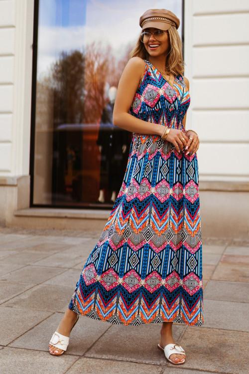 Sukienka MAXI VERONA TUTTO pink
