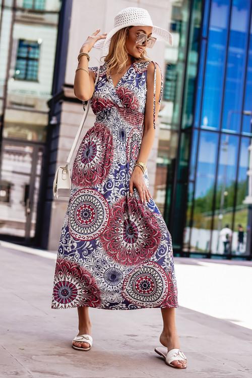 Sukienka GRECCO SUMMER burgundy