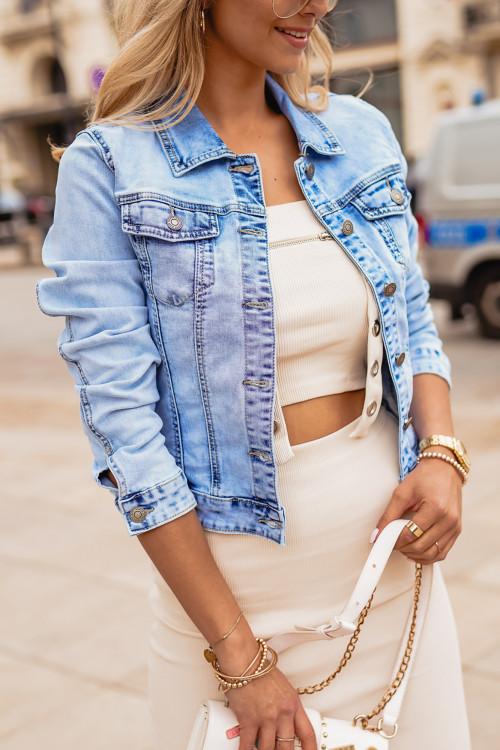 Katana JEANSOWA PIĘKNY jasnoniebieski odcień