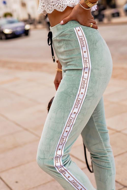 Spodnie WELUROWE JADORE Lifestyle MIĘTOWE
