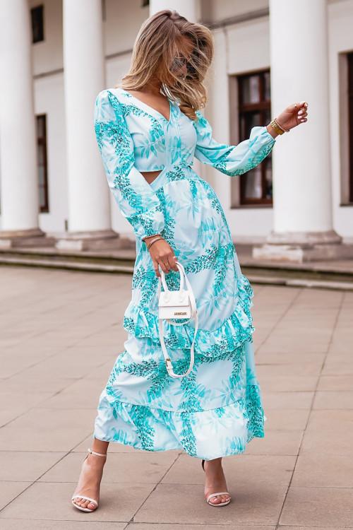 Sukienka COSTA BRAVVA summer miętowa