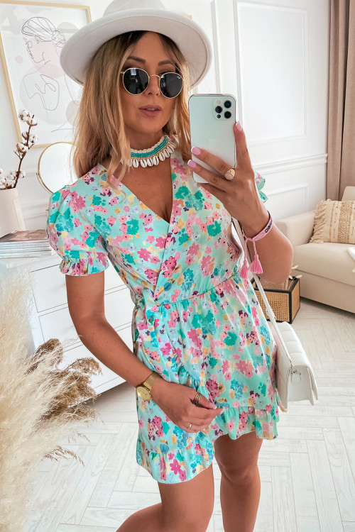 Sukienka GRECCO SUMMER miętowa