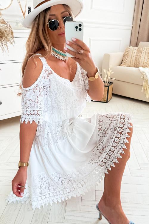 Sukienka LA ROCCA II BOHO Vibes WHITE