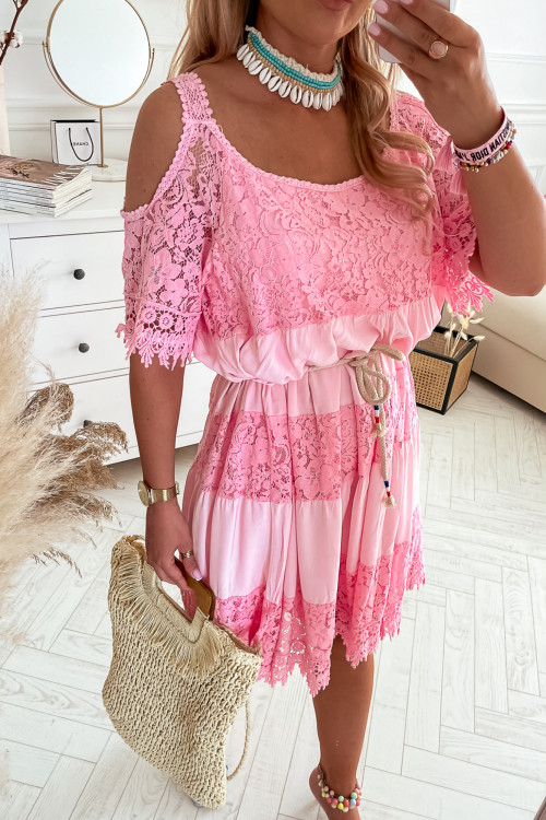 Sukienka LA ROCCA II BOHO Vibes różowa
