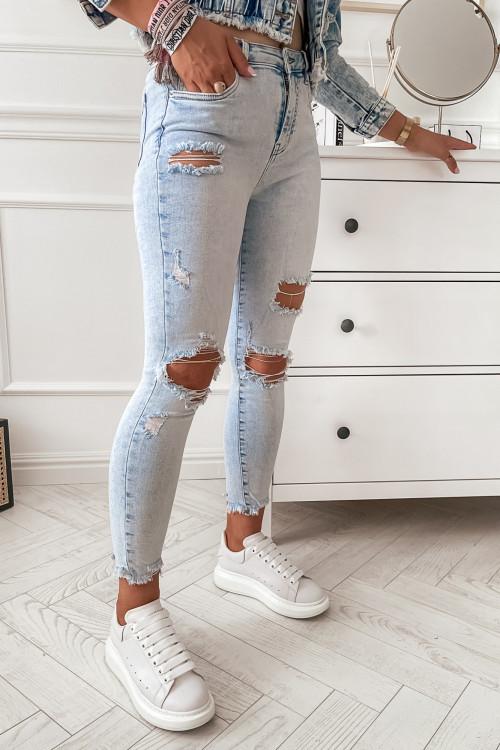Spodnie REFRACCO DENIM jasny jeans