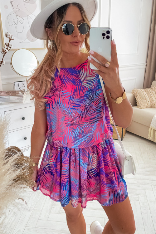 Sukienka SUMMER VIBES LOOKA fuksja