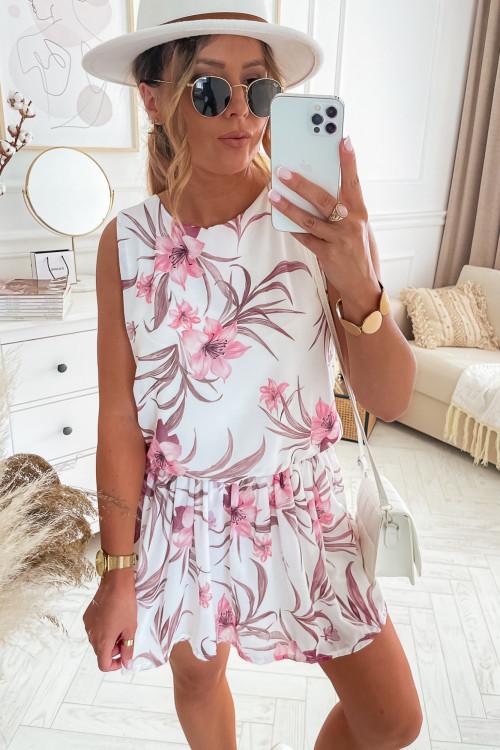 Sukienka SUMMER VIBES LOOKA white