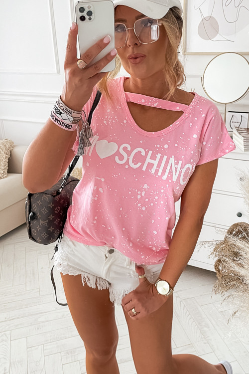 Tshirt PAINTED LIFESTYLE candy pink