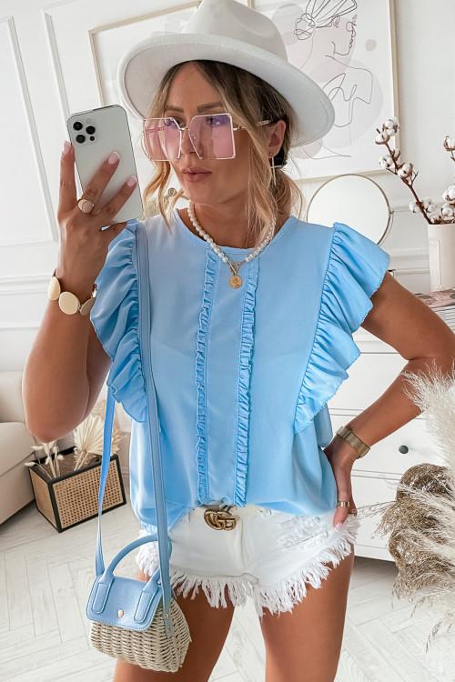 Bluzka elegance CANARIES SUMMER baby blue