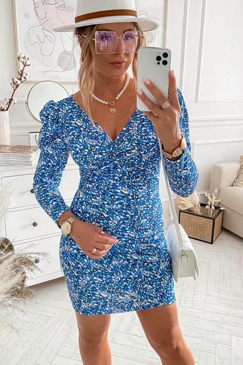 Sukienka PRETTY BODYCON slim BLUE