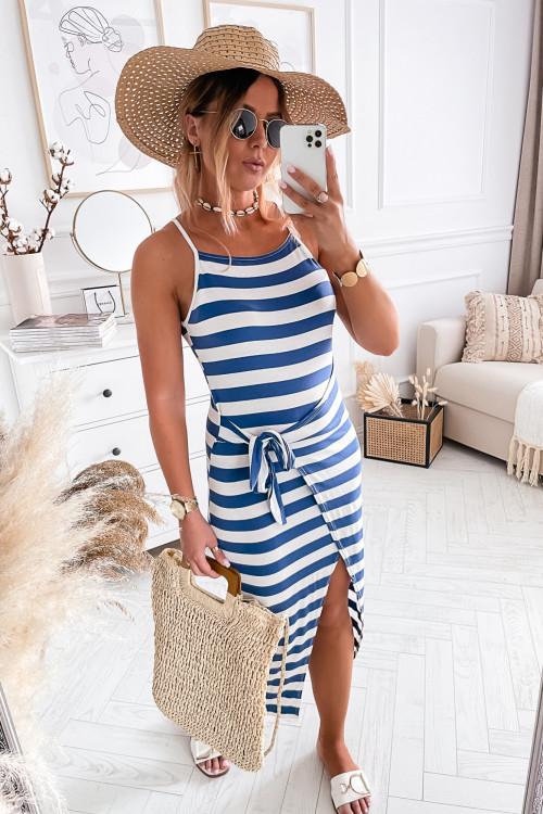 Sukienka MARINE FENCO II BLUE JEANS summer bodycon