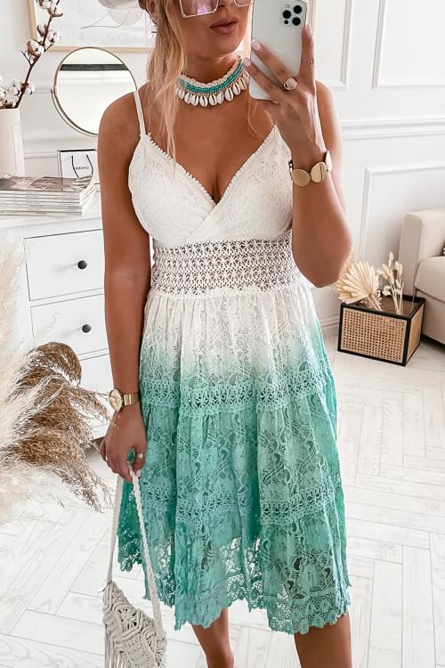 Sukienka BOHO OMBRE SUMMER mięta