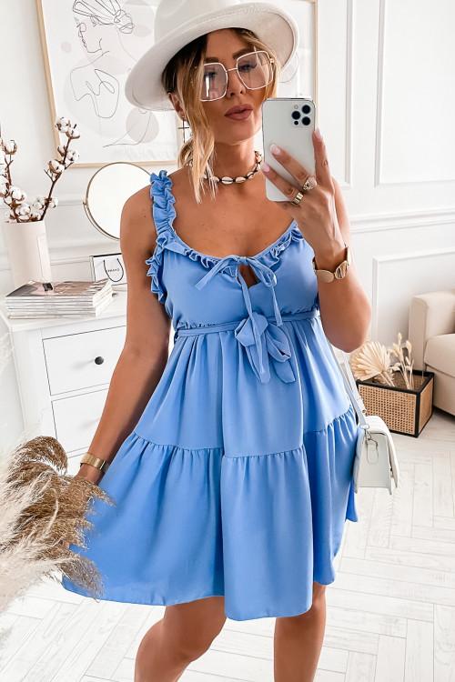 Sukienka SEMMPRE baby blue elegance