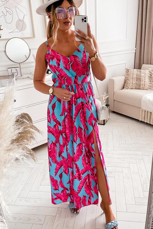 Sukienka CANCOON MAXI SUMMER pink