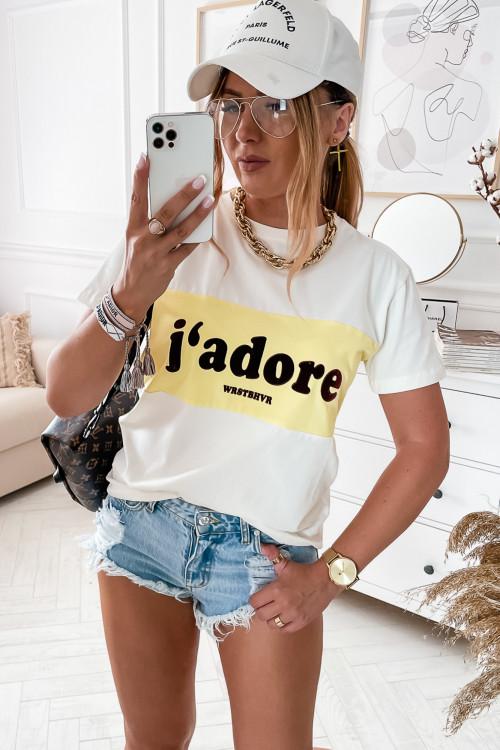 Tshirt Jadore LIFESTYLE white